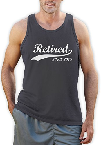 Retired Since 2015 Ruhestandsmotiv Tank Top Dunkelgrau