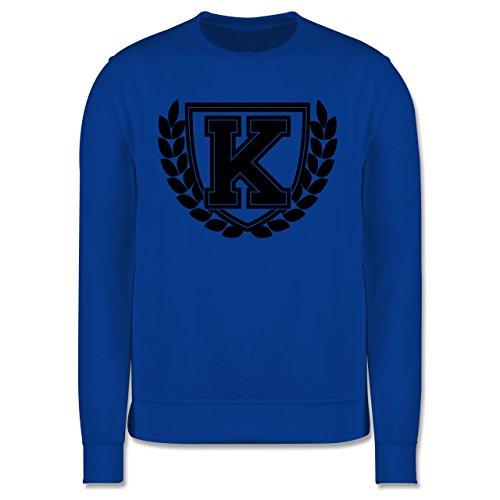 Anfangsbuchstaben - K Collegestyle - Herren Premium Pullover Royalblau