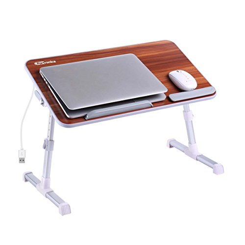 Portronics POR-895 Adjustable Laptop Table (Brown)