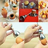 Stainless Steel Raw Egg Shell Topper Cut...