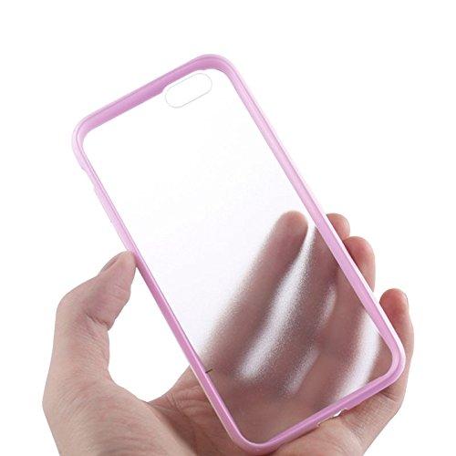 Phone case & Hülle Für iPhone 6 Plus / 6S Plus, TPU Stoßfänger + Kunststoff zurück Fall ( Color : Gold ) Pink