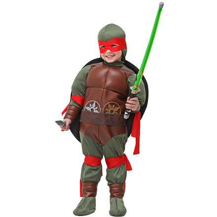 Vestito costume maschera di carnevale - tartaruga ninja bimbo - taglia 4/5 anni - 83 cm