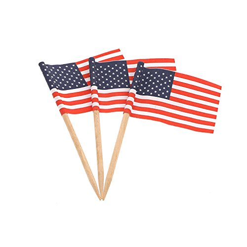 American Flag Picks, Package of 100