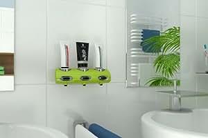 Tubotec silver line set en vert pomme distributeur de gel douche shampoing dentifrice savon - Distributeur de gel douche mural ...