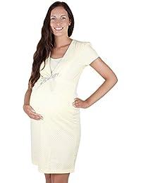 Chemise de nuit de grossesse/allaitement 7001D - 100 % coton