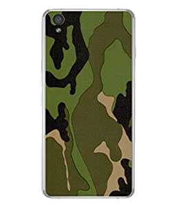 PrintVisa Army Camouflage Pattern High Gloss Designer Back Case Cover for OnePlus X :: One Plus X