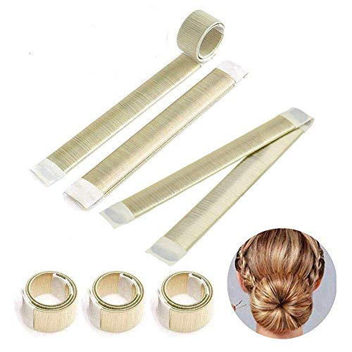 onut Hair Bun Maker, Magic Twist Donut French Band für Damen DIY Hairstyle Tools(Champagne) ()