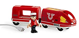 Brio- Travel Rechargeable Train Juego Primera Edad, Multicolor (33746)