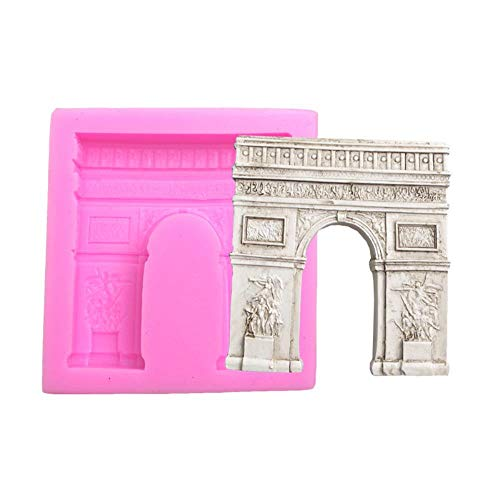 Htro silikon gummiform Paris arc de Triomphe Form Dekoration Werkzeug Schokolade backform