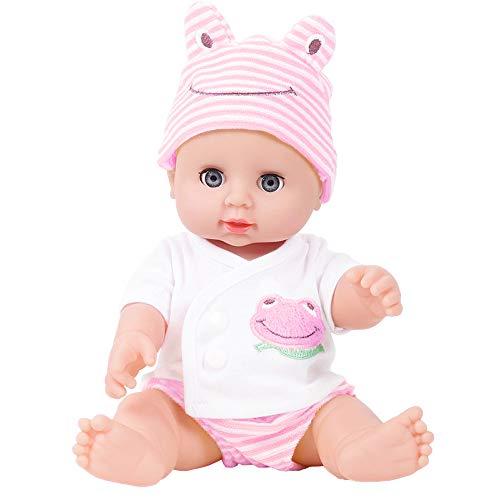 Oliviavan-Puppe Kind Simulation Baby-Puppe zwinkert Kindheit-Partner-Puppe Dress up Spiel Baby Mädchen Spielzeug Dolls Toys Lifelike/Weich Silikon Vinyl