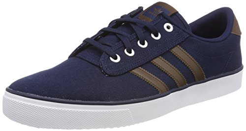 adidas Kiel, Sneaker Unisex – Adulto Blu (Collegiate Navy/brown/footwear White)