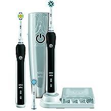 Oral-B PRO 4500 + Cepillo gratis - Cepillos de dientes eléctricos con batería, con funciones CrossAction, Sensitive y 3D White, color negro y blanco