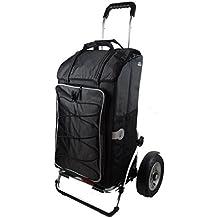 Andersen Royal Shopper Plus con neumáticos de aire, funda polar negro con bolsillo térmico