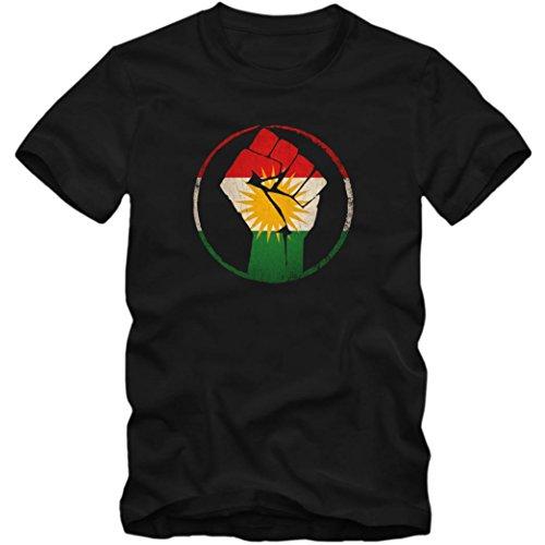 Kurden #1 Premium T-Shirt Iran Türkei Syrien Kinder Shirt, Farbe:Schwarz (Deep Black L190k);Größe:12 Jahre (142-152 cm)