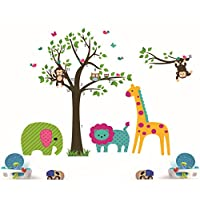 Tree Wall Stickers For Kids Room Decoration Diy Home Decals Animals Mural Art Posters