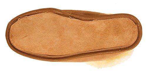 BRUBAKER Damen oder Herren Hausschuhe aus echtem Lammfell Gr. 35 - 48 Braun