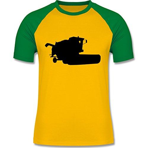Shirtracer Andere Fahrzeuge - Mähdrescher - Herren Baseball Shirt Gelb/Grün