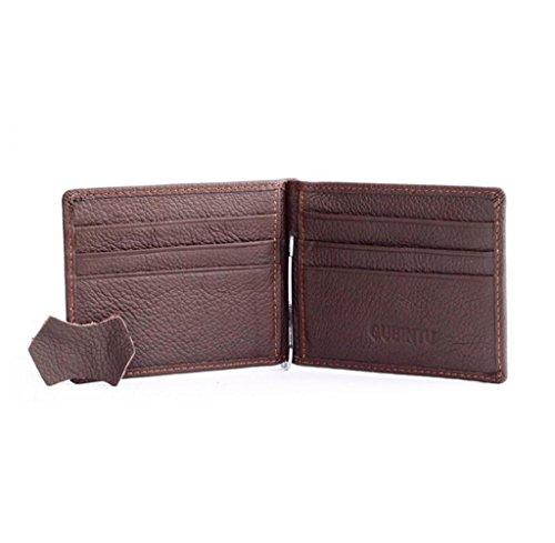 Geldbörsen, Rcool Männer Slim Leder Bifold Geldbörse Credit ID-Kartenhalter (Schwarz) Kaffee