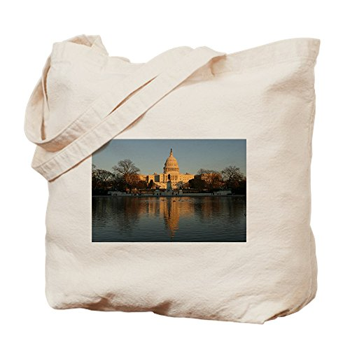 CafePress US Capitol Building Sunset Tragetasche, canvas, khaki, M (Us Capitol Building)