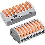 Lot de 10 bornes de c/âblage universelles compactes type 222-415 mini connecteurs rapides /à pousser