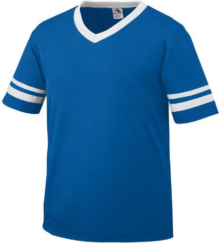 Augusta Herren T-Shirt Weiß Weiß Blau - königsblau