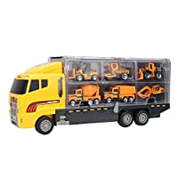 Woyisisi Child Kid Educational Simulation Engineering Car Carrier Mini Truck Toy Set Storage Container
