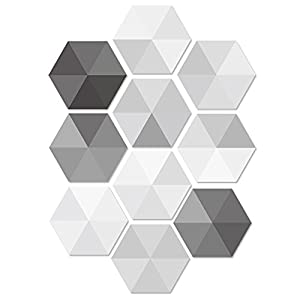 Pawaca 10 Stück Fliesenaufkleber Sechseck Sticker Selbstklebend Fliesen  Wasserdicht Wandaufkleber Mosaik Fliesen Dekoratives Badezimmer Und Küche
