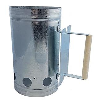 Spetebo Metal Carbón Cigarrillos con Mango de Madera–Barbacoa Carbón Cigarrillos–Letrero con Calor rápido Cigarrillos