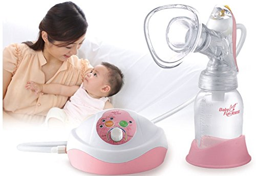 Electric Breast Pump with Silicone Covered Cup, Interchangeable Electrical & Manual, Includes BPA free Pacifier Bottle