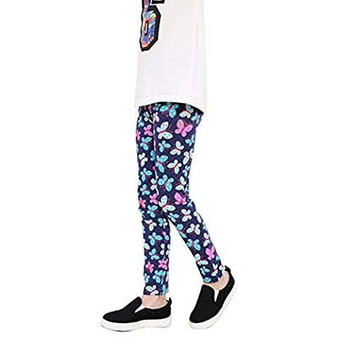 Loveble Girls Printed Flower Tight Stretchable Milk Silk Pants Colorful Leggings For 2-14Year