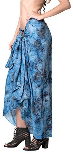 La Leela Strand Badebekleidung der Frauen Badeanzug Bikini Wickelrock Kleid blau blau - Frauen Für Maxi-kleider Licht Blau