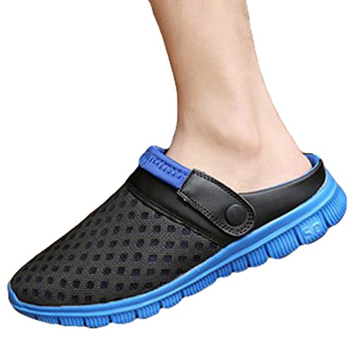 YOUJIA Unisex Atmungsaktiv Leicht Mesh Pantoffeln Clogs Sommer Garten Strand Schuhe Sandalen #1 Saphir