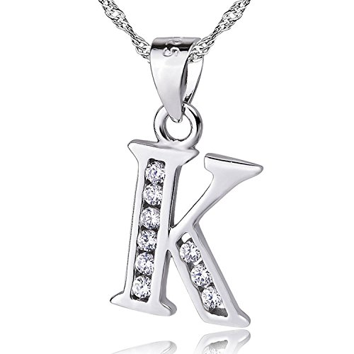 Sojewe Women 925 Sterling Silver Heart Lock Necklace Inlay Cubic Zirconia Pendant Rhodium Plating Chain 40-45cm//15.7-17.7in