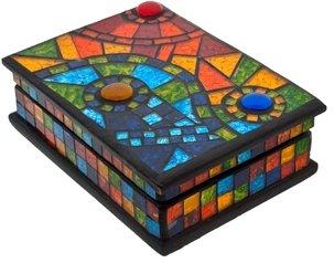 Nicola Spring Rainbow Mosaic Jewellery Box