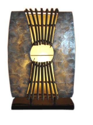 Unbekannt Tischlampe Perlmutt II Tischleuchte 45cm