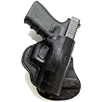 "Paddle Holster. Springfield SubCompact 3""Barrel . Black R/H by Cardini Leather USA"
