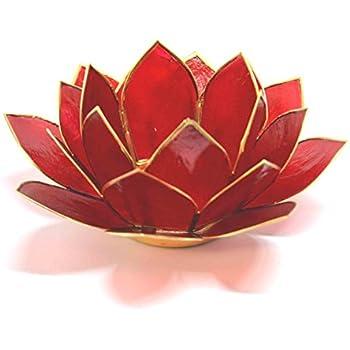 15/x 15/x 7/cm Jaune Mystery Mountain 3/ème Chakra Fleur de Lotus Bougie Chauffe-Plat