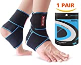 Ankle Support 1 Pair, Adjustable Velcro Ankle Brace for Men/Women, Ankle Wrap