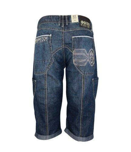 Fashion Étui en Denim pour homme Longueur 3/4 summer Short en jean coton - New Winston - Stone Wash