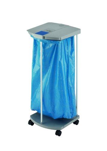 Erweiterbar System (Hailo ProfiLine WS Mobil (mit Rollen Mülltrenn-System, aus Aluminium und Kunststoff, durch Clip-System beliebig erweiterbar, für 120 Liter Müllsäcke) 0912-210)
