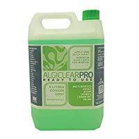 Algiclear Pro The Professional Moss Algae Mould Liverwort Killer - Ready to use 5 litre - Covers 60 Square Metres. For Roof Tiles, Patio, Decking, Walls, Paving And Outdoor Surfaces -