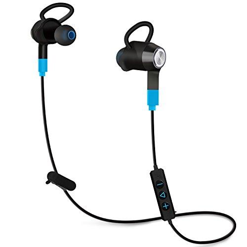 Mixcder Wireless Bluetooth In-Ear Kopfhörer, kabellos Stereo Headset für Joggen, Workout, Fitness, kompatibel mit Handy Smartphone (iPhone, LG, Samsung, HTC, Sony, Nokia), MP3-Player, Tablett PC