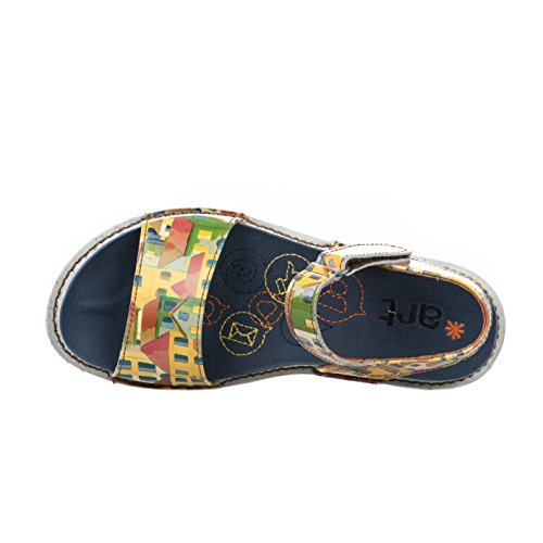 Nu pieds femme - ART - Jaune - 1100 - Millim Jaune