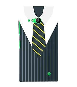 Stripes Executive Dress 3D Hard Polycarbonate Designer Back Case Cover for Nokia Lumia 730 :: Microsoft Lumia 730 :: Microsoft Lumia 735