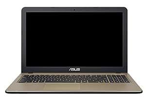 Asus F540SA-XX073D 39,60 cm (15,6 Zoll HD Glare Type) Notebook (Intel Celeron N3050, 4GB RAM, 500GB HDD, Intel HD-Grafik, DVD, DOS) braun