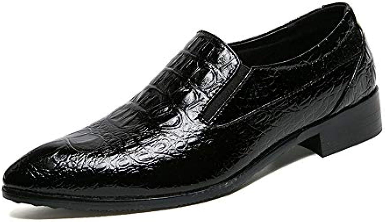 Scarpe da Uomo in Pelle Oxford da Lavoro Lavoro Lavoro Casual Casual Crocodile Retro Low-Top Formal scarpe Scarpe da Cricket | Bella arte  | Uomini/Donna Scarpa  1c2ef3