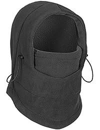 IPENNY termica in pile passamontagna maschera cappello cappuccio  double-deck Thicken antivento Warmer Winter Outdoor 9e7df5f58c7e