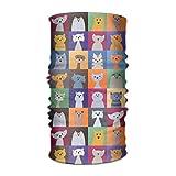Uosliks Cute Cat Versatile Outdoors Daily Stylish Headwear Multifunctional Sport Fascia per capelli Sweatband,Magic Scarf,Head Wrap,Neck Gaiter,Bandana,Helmet Liner, Balaclava,Tube Mask