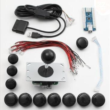 atzteil Set Kits USB Encoder Joystick Push-Buttons Für Windows Für Ps3 Für Die Ps4 Android System Smart Tv Tv-Box - Schwarz ()