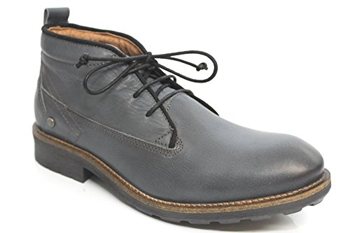 Wrangler POUR HOMME Casual désert dentelle jusqu'à doublure en fourrure cheville bottes taille UK 6-12 Gris - gris